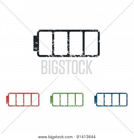 Empty battery grunge icon set