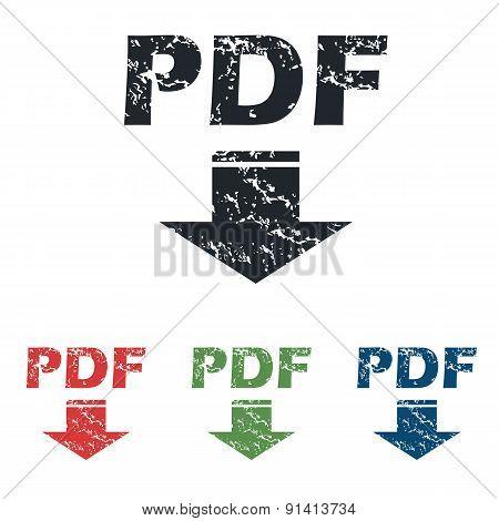 Pdf download grunge icon set