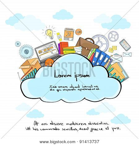 Cloud Logo Storage Internet Aplication Hosting Technology