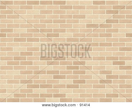 Brick Wall Seamless Background Small Bricks In Tan