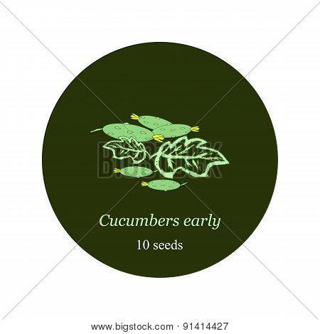 Label for seeds and seedlings of cucumber