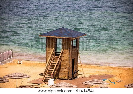 Rescue  Booth At The Dead Sea