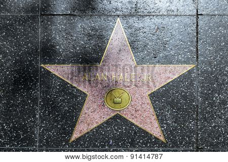 Alan Hale's Star On Hollywood Walk Of Fame