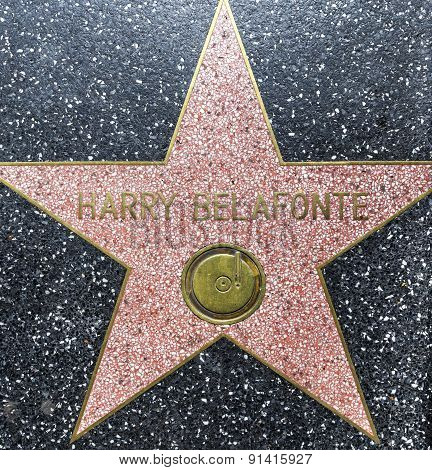 Harry Belafonte's Star On Hollywood Walk Of Fame
