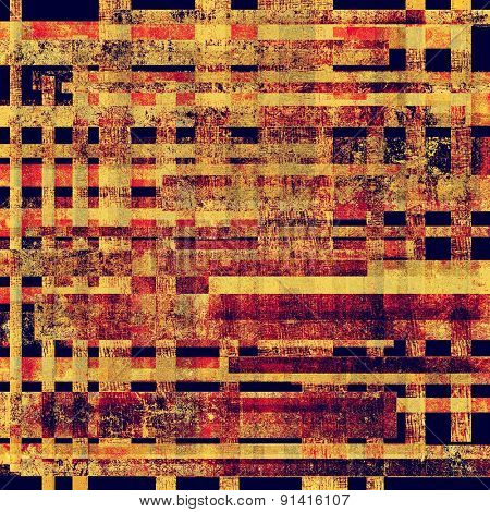 Aging grunge texture, old illustration. With different color patterns: yellow (beige); pink; blue; red (orange)