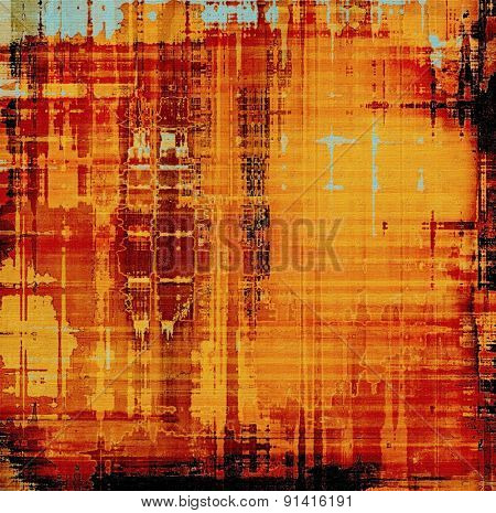 Old and weathered grunge texture. With different color patterns: yellow (beige); blue; red (orange); black