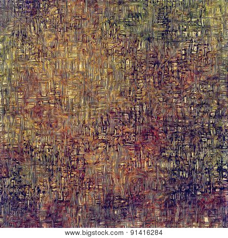 Old retro vintage texture. With different color patterns: brown; gray; purple (violet); green