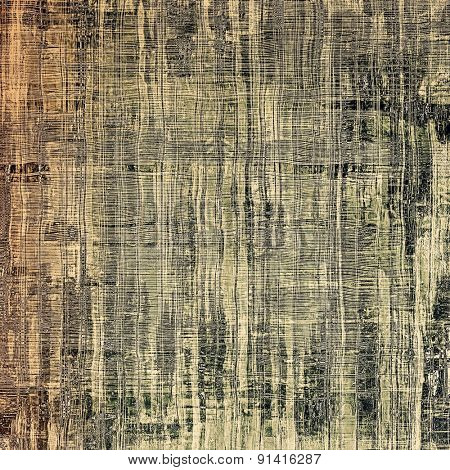 Cracks and stains on a vintage textured background. With different color patterns: yellow (beige); brown; gray; black