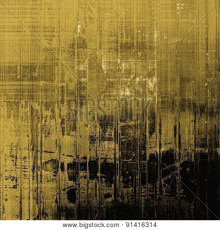 Old and weathered grunge texture. With different color patterns: yellow (beige); brown; gray; black