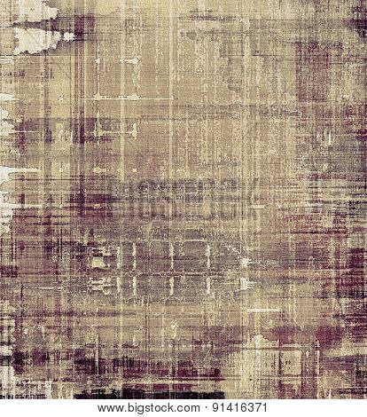 Dirty and weathered old textured background. With different color patterns: yellow (beige); brown; gray; purple (violet)