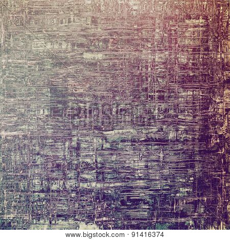 Old abstract texture with grunge stains. With different color patterns: brown; gray; purple (violet)