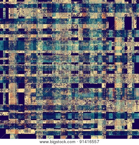 Vintage texture. With different color patterns: brown; gray; blue; cyan