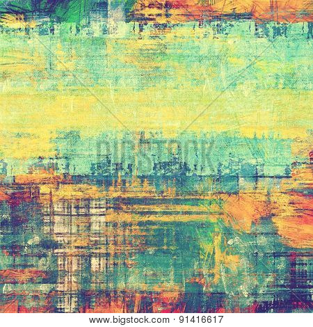 Dirty and weathered old textured background. With different color patterns: yellow (beige); pink; blue; green