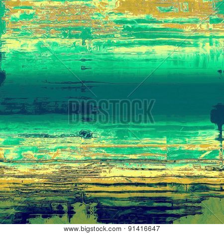 Grunge old texture as abstract background. With different color patterns: yellow (beige); brown; blue; green