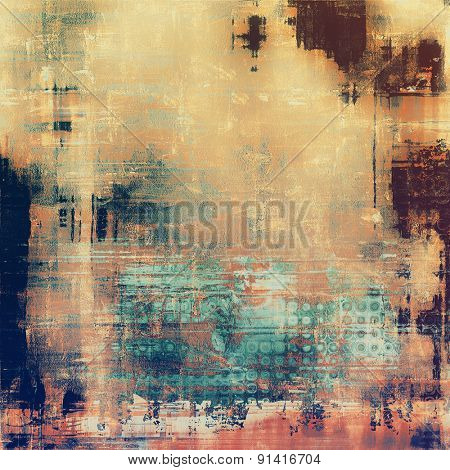 Background with grunge stains. With different color patterns: yellow (beige); brown; blue; cyan