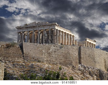 Acropolis of Athens Greece, Parthenon temple