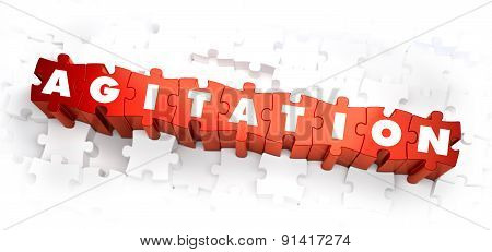Agitation - Word on Red Puzzles.