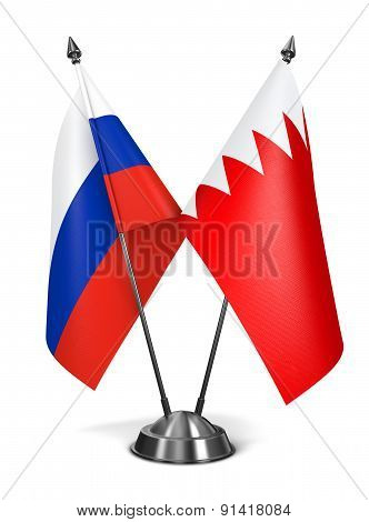 Russia and Bahrain - Miniature Flags.