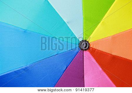 Multicolored Umbrella In Rainbow Colors