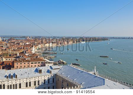A View Of Venice From The Campanile Of San Marco