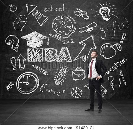 Senior Manager Is Going To Get The Master's Degree In Business Administration. A Concept Of The Mba