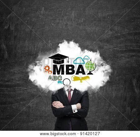 An Investment Banker Is Pondering Over The Master's Degree In Business Administration. Cloud With Th