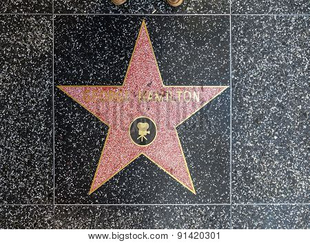 George Hamilton's Star On Hollywood Walk Of Fame