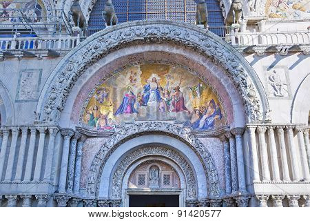 The Patriarchal Cathedral Basilica Of Saint Mark At The Piazza San Marco