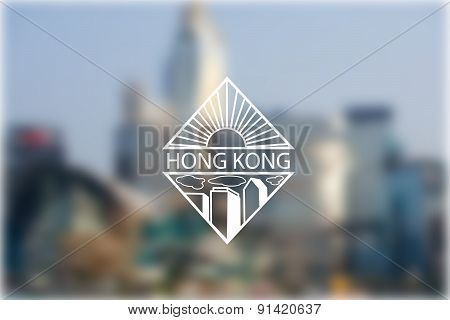 Blur Effect Background With Logo