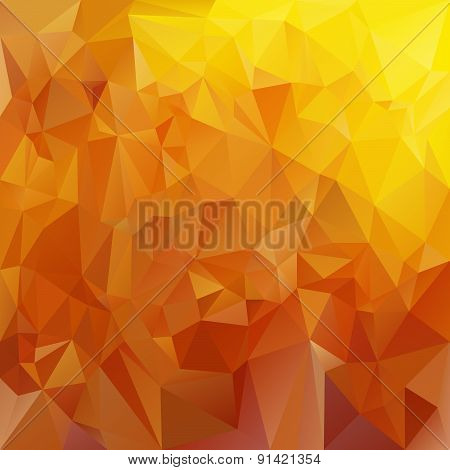 Vector Polygonal Background Triangular Design In Honey Colors