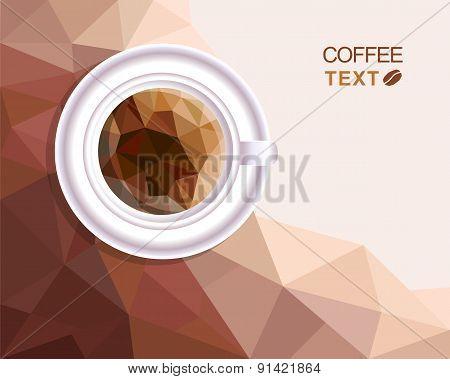Coffee Cup Polygonal Style Menu
