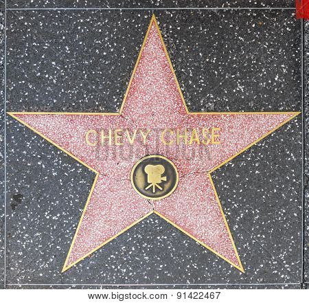 Chevy Chase Star On Hollywood Walk Of Fame