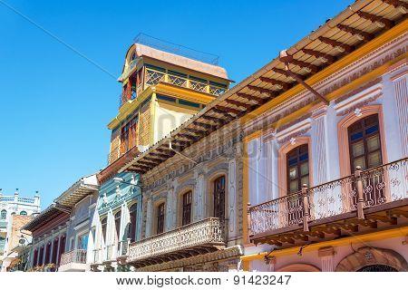 Balconies In Cuenca, Ecuador