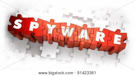 Spyware - Text on Red Puzzles.