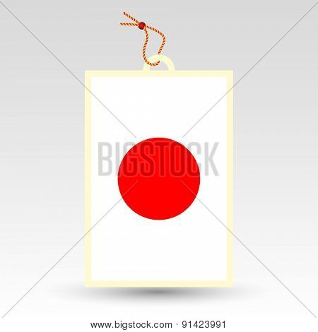 Vector Simple Japanese Price Tag - Symbol Of Made In Japan - Flag