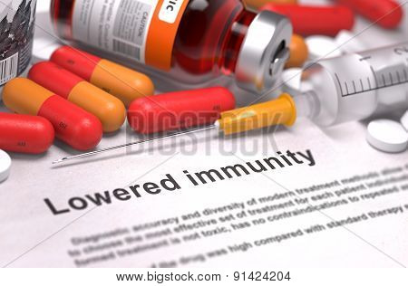 Lowered Immunity - Medical Concept.