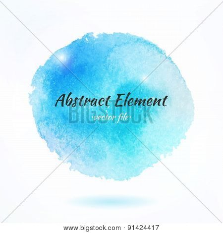 Colorful Watercolor Abstract Vector Element