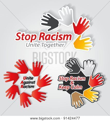 Stop Racism Label Set