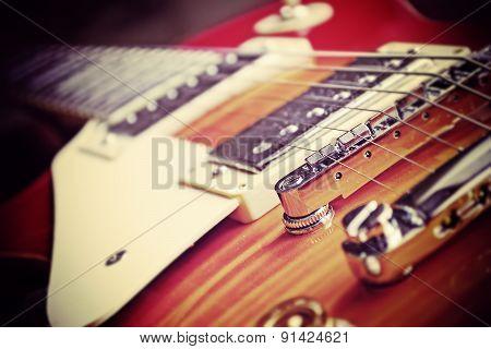 Guitar Bridge In Vintage Effect