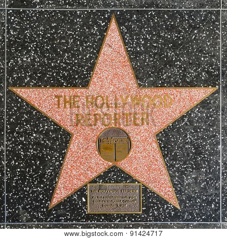 The Hollywood Reporter's Star On Hollywood Walk Of Fame