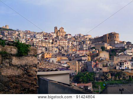 View Of Agira, Sicily