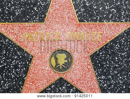 Patrick Swayze's Star On Hollywood Walk Of Fame