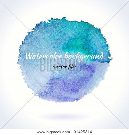 Watercolor Vector Blue And Purple Circle