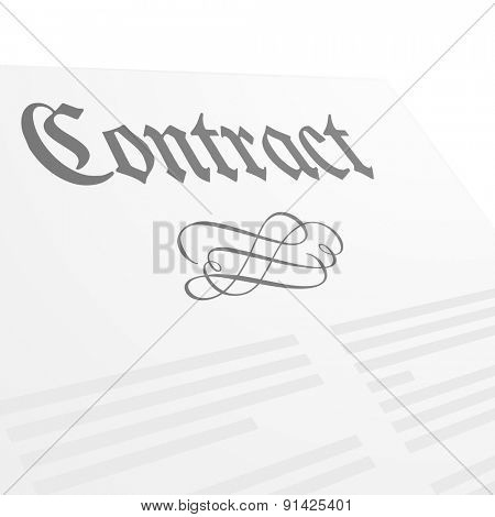 detailed illustration of a contract letter head, eps10 vector