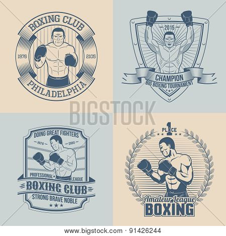 logo with boxer