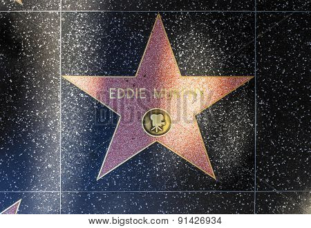 Eddie Morphy's Star On Hollywood Walk Of Fame