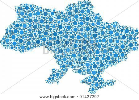 Isolated map of Ukraine