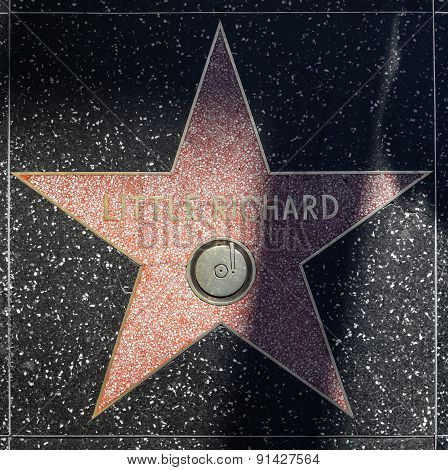 Little Richards Star On Hollywood Walk Of Fame