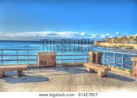 Alghero Coastline Seen From The Promenade