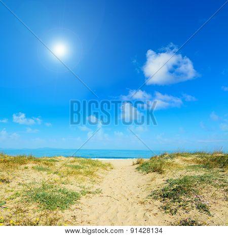 Sandy Shore In Platamona Beach